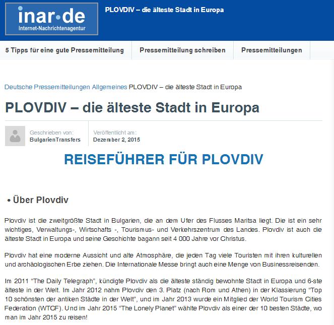 PLOVDIV – DIE ÄLTESTE STADT IN EUROPA