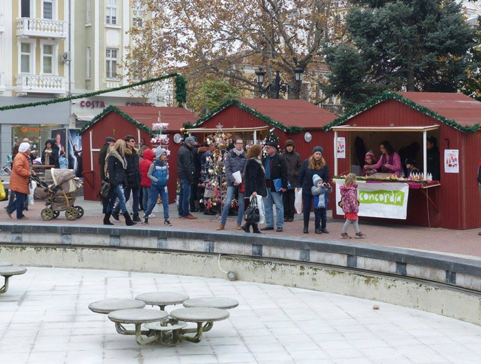 The annual German Christmas Market is taking place in Plovdiv