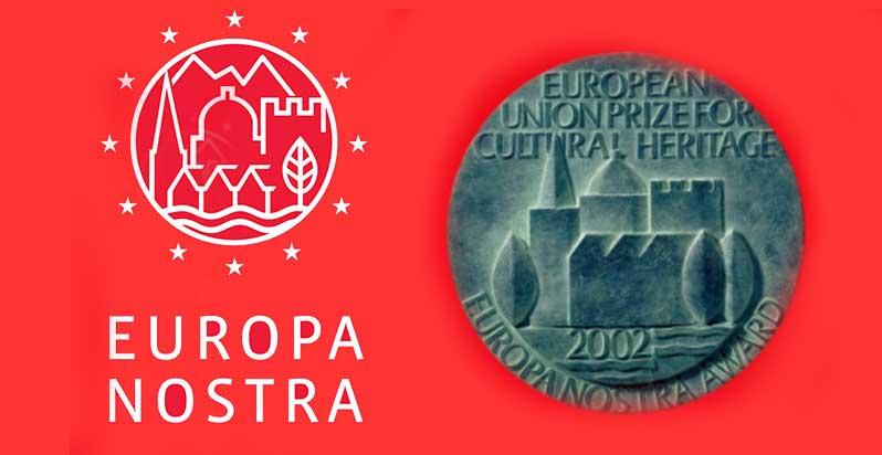 APPLY FOR EU PRIZE CULTURAL HERITAGE -  EUROPA NOSTRA AWARDS 2017